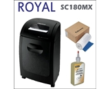 Royal SC180MX 18-sheet Crosscut Paper Shredder + 100 Pack Sh...