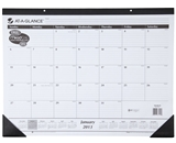 AT-A-GLANCE Recycled Desk Pad, 22 x 17 Inches, White, 2014 (...
