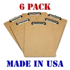 Advantage Hard Board Clipboard with Low Profile Clip, Standa...