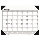 ** Workstation-Size One-Color Monthly Desk Pad Calendar, 18-...