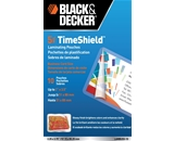 Black and Decker TimeShield Thermal Laminating Pouches, Busi...
