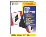 C-Line Traditional Standard Weight Poly Sheet Protectors, Cl...