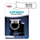 DYMO 16956 D1 Permanent Polyester Label Tape, Black on White...