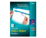 Avery Index Maker Clear Label Dividers, Easy Apply Label Str...