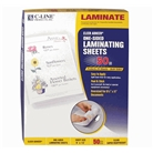 C-Line Heavyweight Cleer Adheer Laminating Film Sheets, Clea...