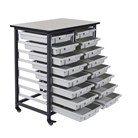Luxor  Mobile Bin Storage Unit - Double Row  Model Number- M...
