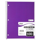 Mead Spiral Notebook, College Ruled, 1 Subject, 8.5 x 11, 10...