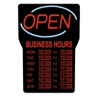RSB-1342E LED Open Sign with Hours