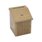 Safco Wood Suggestion Box, Latch Lid Key Lock, 7 3/4 x 7 1/2...