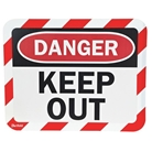 Sign Holder, Adhesive, Keep Out, PK2
