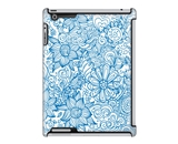 Uncommon LLC Linear Floral Blue Deflector Hard Case for iPad...