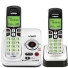 VTech DECT 6.0 Expandable 2-Handset Cordless Phone System wi...