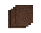 Quartet Dark Cork Tiles, 12 x 12 Inches, Self-Adhesive, 4 Ti...